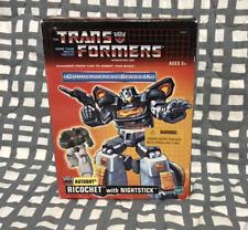 Transformers TRU Ricochet w NightStick G1 ReIssue Comm. Series IX Black Jazz WFC