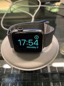 Apple Watch Gen 1 MJ3Y2LL/A stainless steel 42mm Milanese unlocked