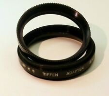 Tiffen 49mm to series 6 VI Adapter to 44mm  Ring (threaded) filter w/ retaining