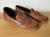 Russell And Bromley Tassle Loafers Mens Leather Brown Shoes UK 6 EU 40