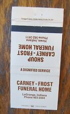 FUNERAL HOME: CARNEY FROST & SHOUP (LAGRANGE & HOWE, INDIANA) -G10
