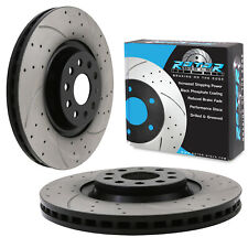 FRONT DRILLED GROOVED 340mm BRAKE DISCS FOR VW GOLF MK7 1.6 2.0 TDI GTD GTI R