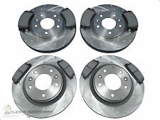 MAZDA 6 2002-2007 FRONT & REAR DIMPLED & GROOVED BRAKE DISCS & MINTEX PADS SET
