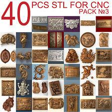 3d stl Model relief 40 pcs Pack for CNC Router Artcam #3