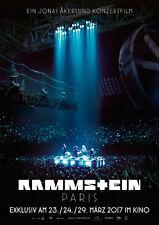 RAMMSTEIN PARIS - Orig.Kino-Plakat A1 Hochglanz - Konzertfilm - Gerollt