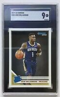 Zion Williamson 2019-20 Panini Donruss Rated Rookies #201 SGC 9 Rookie Card