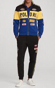 Polo Ralph Lauren Men's Double Knit Racing Jacke & Pant Set, Multicolor Size L