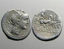 MALLIA 2 SILVER DENARIUS___Roman Republic___VICTORY IN TRIGA