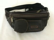 Brown Faux Leather  Bum /  Belt Bag   -    Fits up to 50 inch waist    NEW
