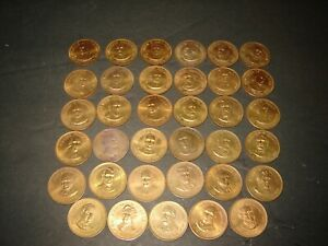 Lot of 35 US Presidents copper medals 25 mm
