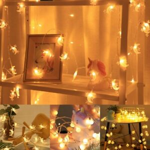 3M 20LED String Fairy Lights EID Mubarak Ramadan Muslim Islam Moon Star Decor