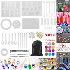 83Pc Resin Casting Silicone Molds Epoxy Spoon Kit Jewelry Making Pendant Craft