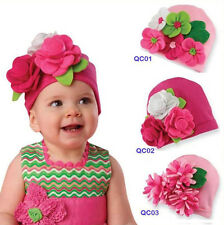Cute Big 3D Flower Baby Kids Infant Toddler Girl Warm Beanie Hat Cap Photo Pop
