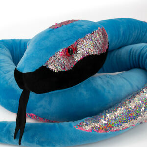 Wild Republic 9ft Jumbo Sequin Snake Stuffed Animal Plush Toy