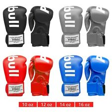 TEMPO BAG GLOVES Boxing Box Gym Training Mitt Work Black Blue Red Gray 4 Sizes
