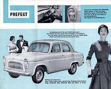 Ford Anglia & Prefect 100E 1957-58 UK Market Foldout Brochure Standard De Luxe