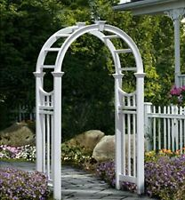 Garden Arbors Trellis Pergola White Archway Wedding Gate Patio Backyard Pool New