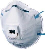 3M 8822 Confort Premium à Valve Poussière Masque Respirateur FFP2 Box 10