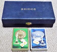 Jasperware Vintage 1930's Leather Case Bridge Set