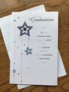 Congratulations card on graduation stars proud lovely words Clinton's  (S244)