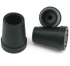 """Gummipuffer """"KARO"""" mit Stahleinlage schwarz für Leichtmetall-Gehstöcke 14-18mm"""