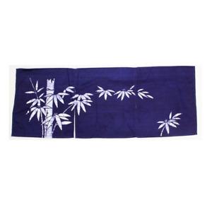 "Japanese Noren Curtain Sushi Bar Doorway Room Divider Tapestry 12"" Navy Bamboo"