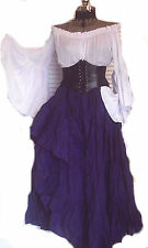 BLACK CORSET RENAISSANCE WAIST CINCHER STEAMPUNK COSTUME UNDERBUST PIRATE WENCH