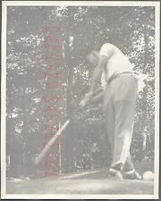 Vintage Photo Golfing Man Johnny Bulla w/ Golf Club in Swinging Motion 704320