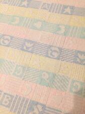 "Snuglers Blanket Manta de Bebe by Baby Ragz 30 x 43"" Pastel Green Blue Yellow"