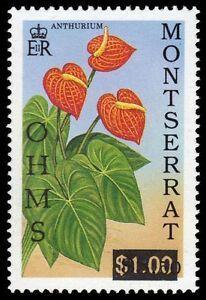 "MONTSERRAT O103 (SG O99) - Anthurium Flowers Overprinted ""OHMS"" (pa45586)"