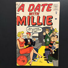 A Date With Millie #6 1st Series June 1957 Vintage Atlas Comic Book Paper Dolls