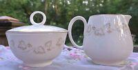 "Noritake Ivory China Sugar Bowl With Lid And Creamer ""Gold Ivy"" Pattern #7531"