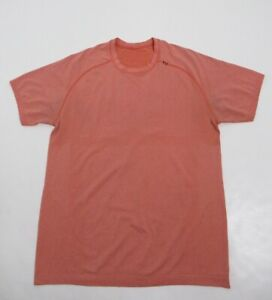 Lululemon Men's Metal Vent Tech Short Sleeve Light Orange Size M Stretch