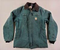 Carhartt Vintage Men's Canvas Duck Work Chore Rancher Jacket Size XL Tall Moss