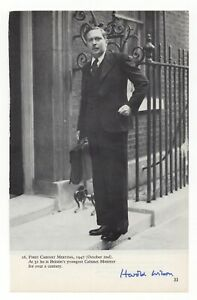 Harold Wilson - UK Prime Minister - Autographed Book Page Photo