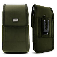 Cell Phone Pouch with Belt Loop & Metal Clip Holster (3 Sizes) Evocel (OD Green)