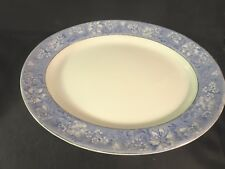 "Soho Pottery Ltd Coalbridge England Azeala Gold Trim 16"" Oval Serving Platter"