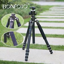 B671C 55'' Lightweight Carbon Fiber Camera Tripod Ball Head for DSLR Bronz Grey