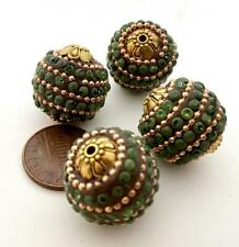 Large 20mm Fancy Inlaid Beads India 4