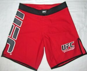 UFC Red Official MMA Martial Arts Fight Fighting Training Shorts Mens Size 30