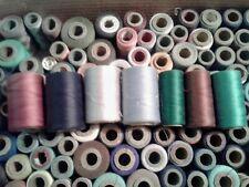 Vntg 150 + wooden spool thread lot J & P Coats mercerized boilfast mixed colors
