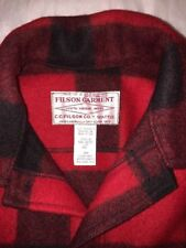 FILSON Vintage Mackinaw Buffalo Plaid Wool Jacket sz 46