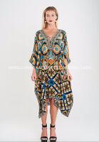 Kaftan Embellished Kimono Sleeves Cruise Wear Luxe Premium Designer Silk SLP1021