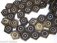 16 Perline da Bali Indonesia di noce di cocco HEXAGON 23-25mm Nenad-design b42