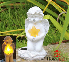 Solar Powered Fairy Angel Star Garden Ornament stone concrete Figurine Statue