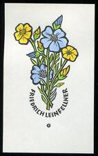EXLIBRIS,160,Leopold Feichtinger - Lein Blüten