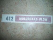 IH 412 MOLDBOARD PLOW, VINYL  DECAL/STICKER