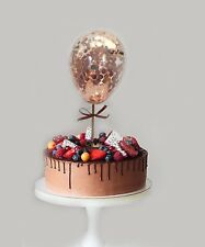 CONFETTI ROSE GOLD BALLOON CAKE TOPPER WEDDING PARTY BIRTHDAY BRIDAL CHRISTMAS
