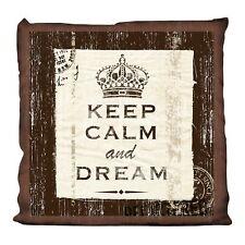 Dekokissen 38 x 38 cm  KEEP CALM Dream braun Zierkissen Sofakissen NEU