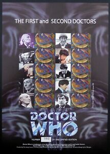 GB SMILERS The 1st and 2nd Doctor's 802/1000 BC213 Ltd Ed at £8.50 FV DF861
